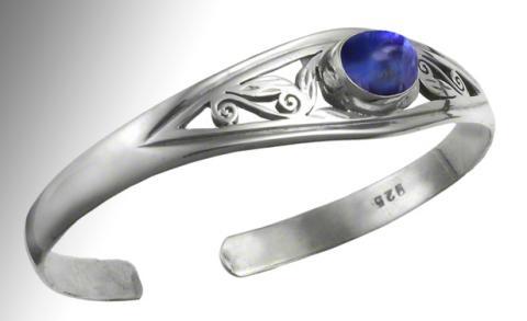 Blue Rainbow Moonstone Cuff Bracelet