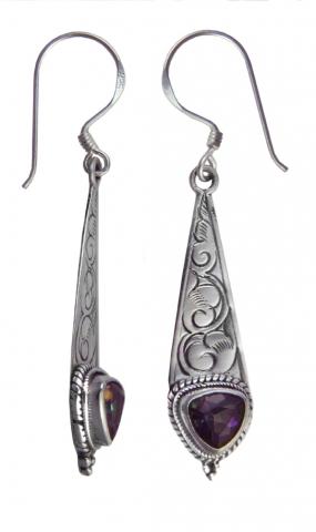 Unique gemstone earrings