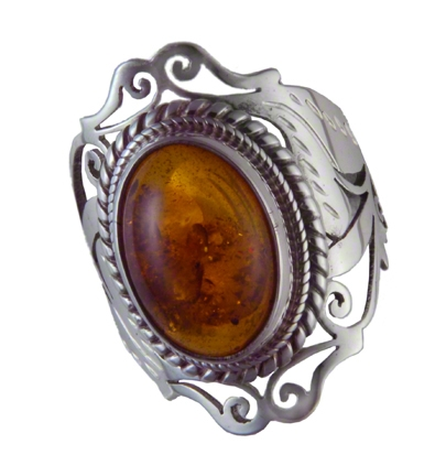 Amber fossil resin