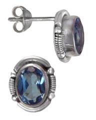 gemstones set in .925 sterling silver